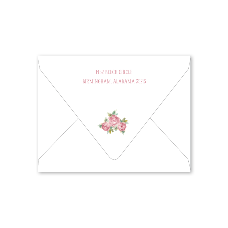 Baby Roses Baby Shower Envelopes