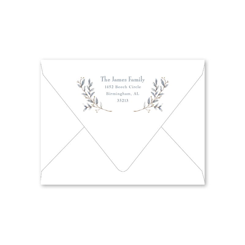 Blue Border Baby Shower Envelopes