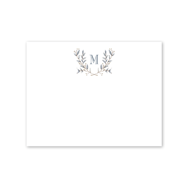 Blue Border Notecard