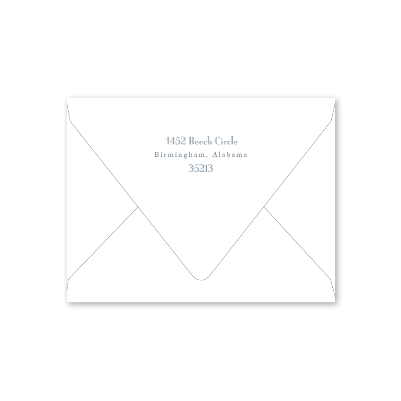 Blue Border Notecard Envelopes