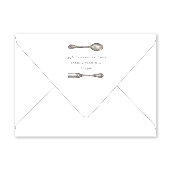 Fork and Spoon Shower Envelopes
