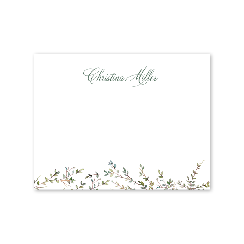 Greenery Border Notecard