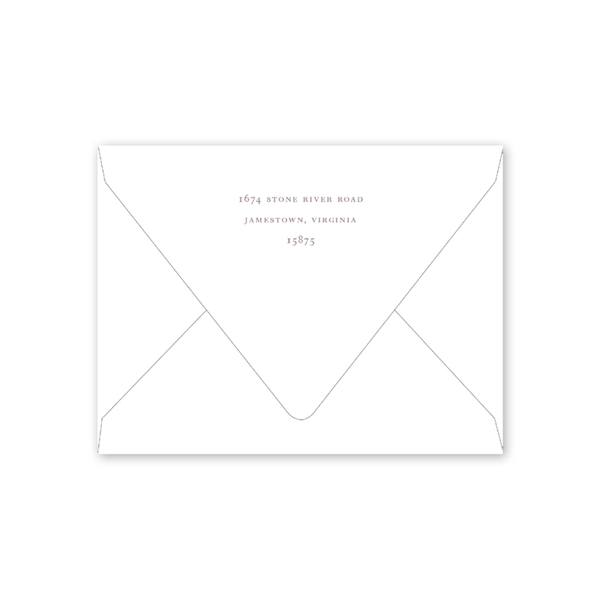Greenery Border Notecard Envelopes