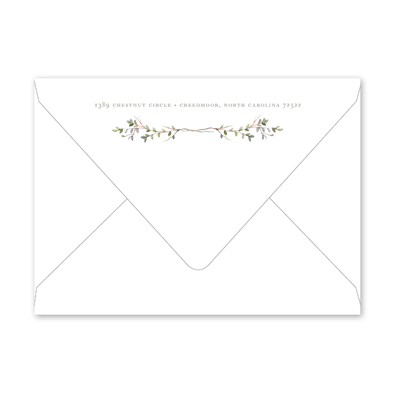 Organic Branches Brunch Envelopes