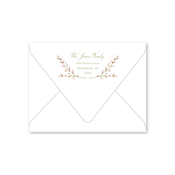 Pink Border Birth Announcement Envelopes