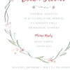 Sketched Laurel Bridal Shower/Tea