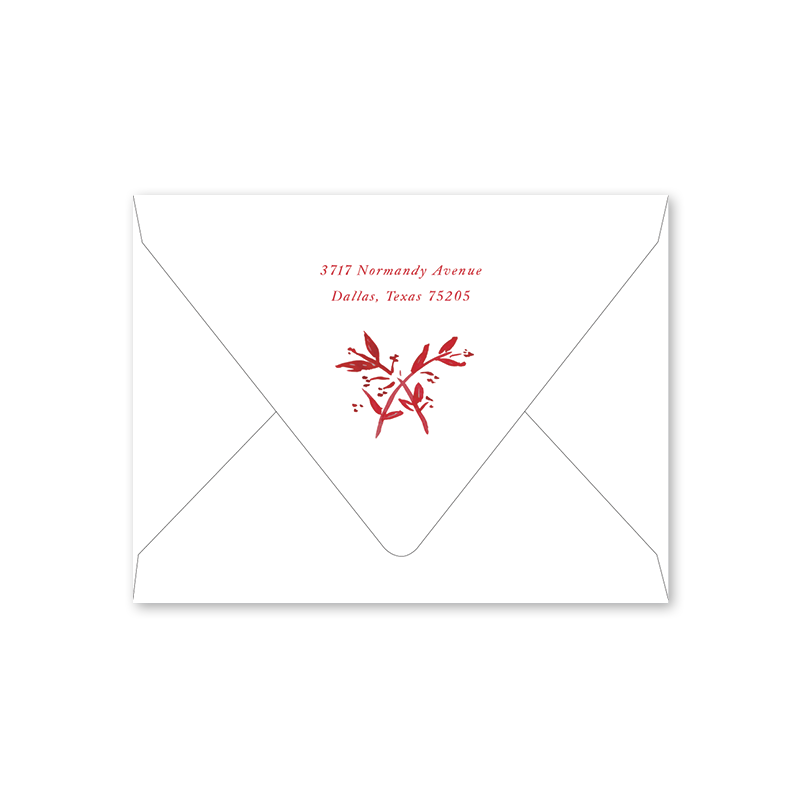 Crimson Toile Folded Notecard Envelopes