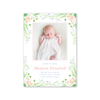 Lily of the Valley Pink Birth Announcement