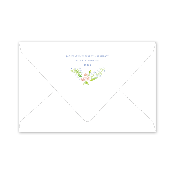 Lily of the Valley Pink Birth Announcement Envelopes