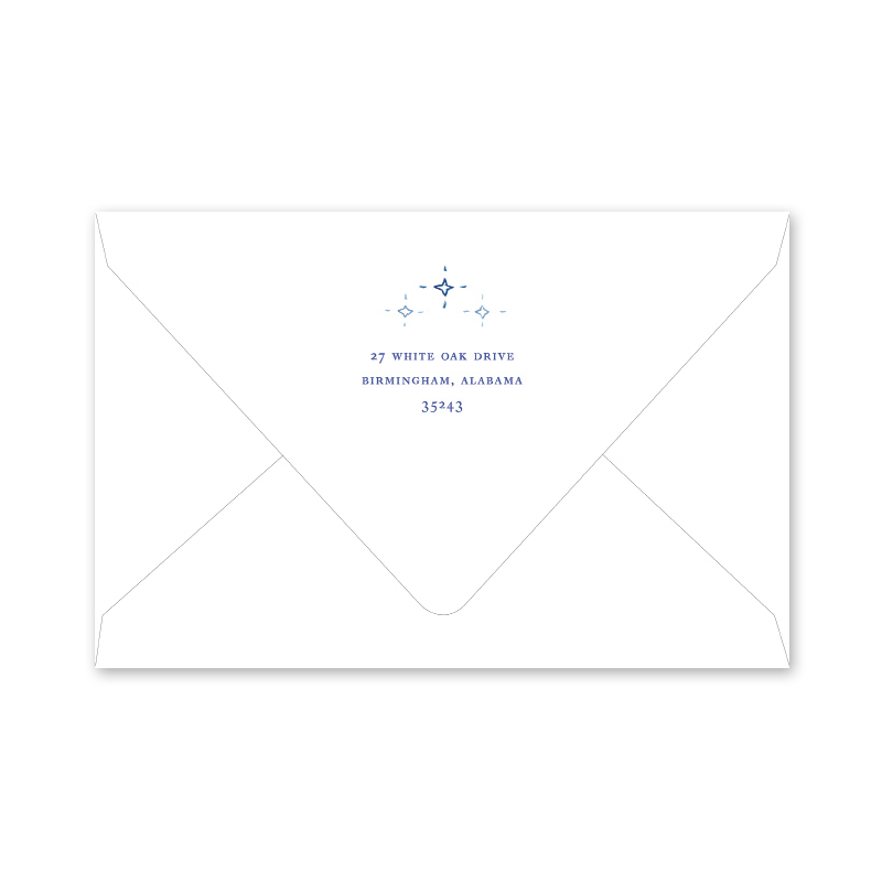 Blue Nativity Envelopes