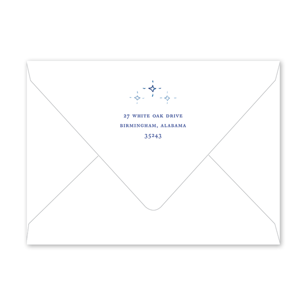Blue Nativity Mosaic Landscape Envelopes