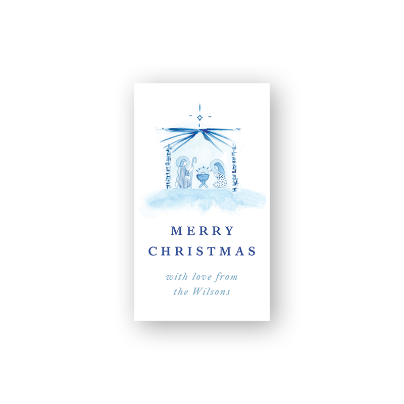 Blue Nativity Sticker