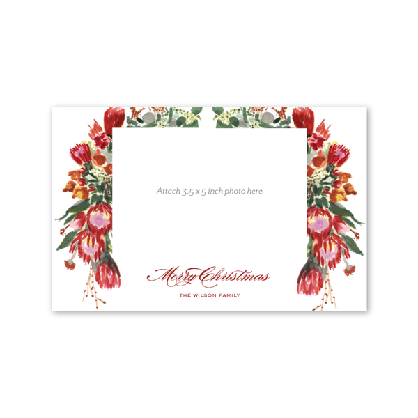 Christmas Florals Photo Mount