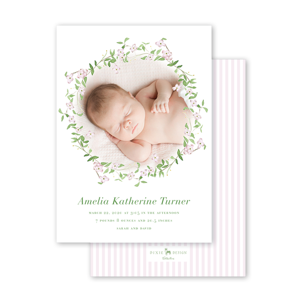 Dogwood Birth Announcement