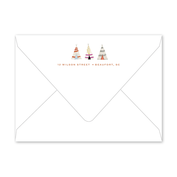 Fun Border Teepee Birthday Envelopes