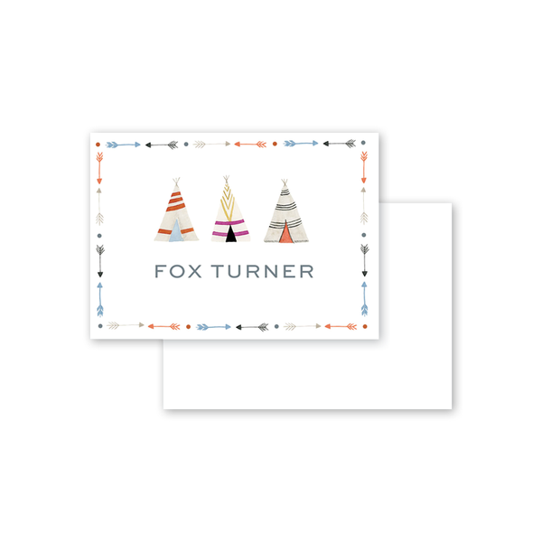 Fun Border Teepee Calling Card