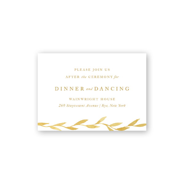 Filigree Reception Card