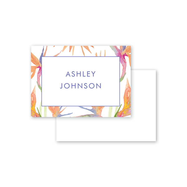 Birds of Paradise Border Calling Card