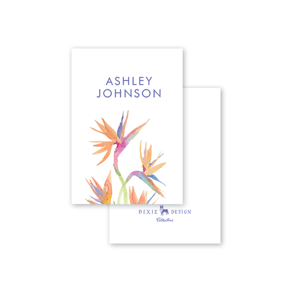 Birds of Paradise Calling Card