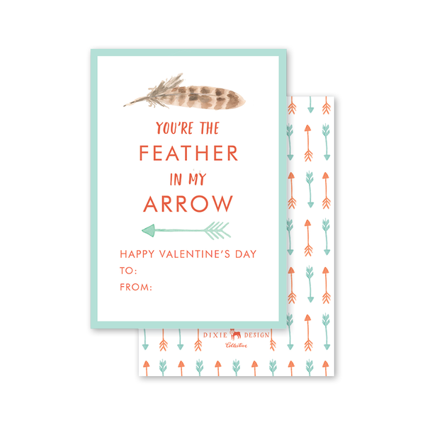 Happy Camper Feather Valentine
