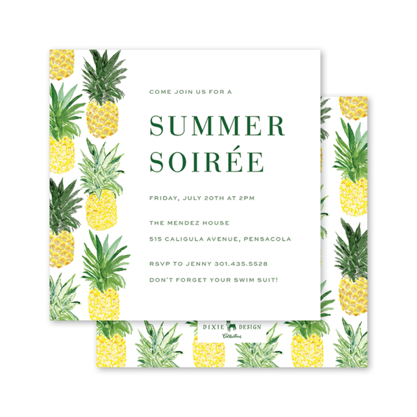Pineapples Summer Square Party
