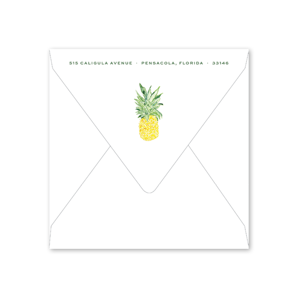 Pineapples Summer Square Party Envelopes