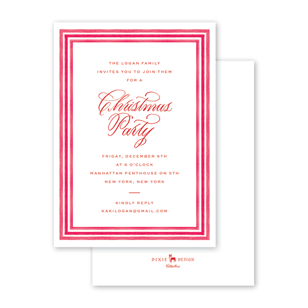 Baubles and Tinsel Border Invitation