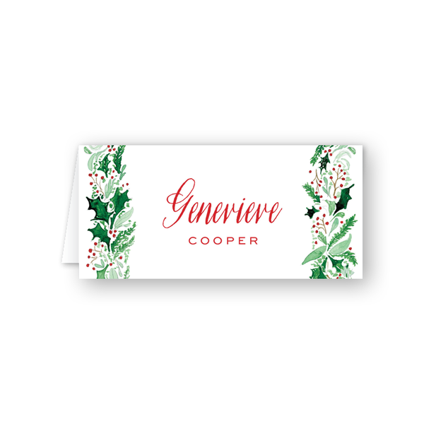 Berry Merry Border Place Card