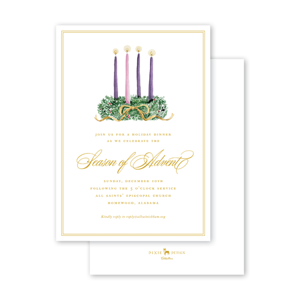 Christmas Candles Advent Invitation