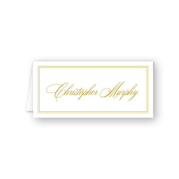 Christmas Candles Border Place Card