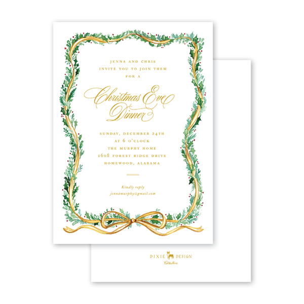 Christmas Candles Invitation