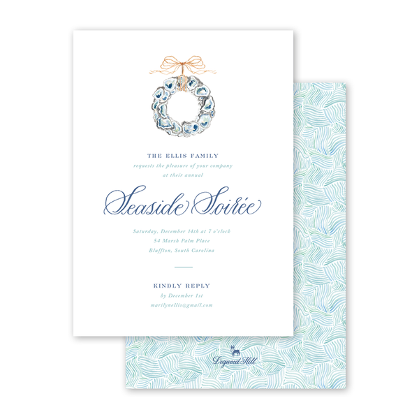 Coastal Christmas Invitation