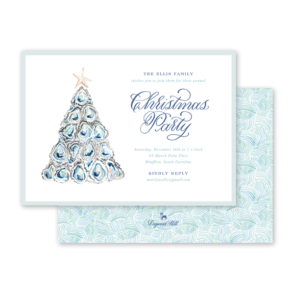 Coastal Christmas Landscape Invitation
