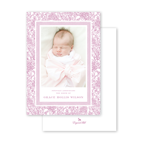 Dolly Blooms Birth Announcement