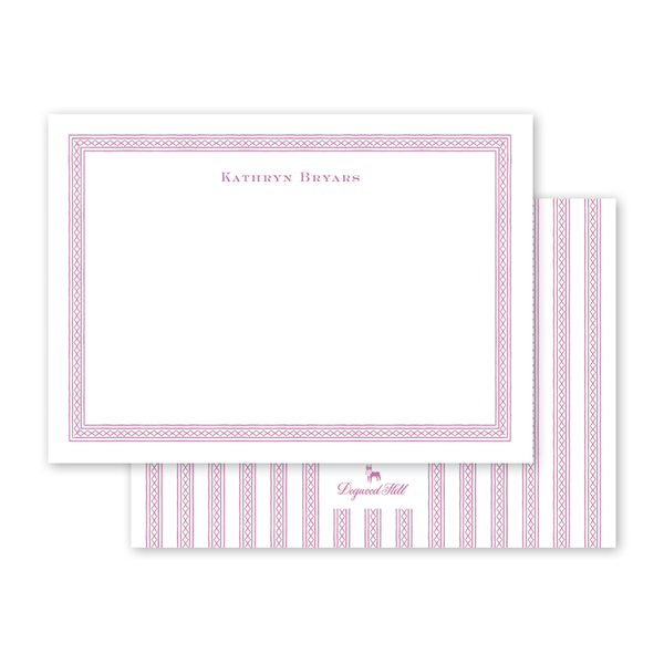 Dolly Blooms Border Notecard
