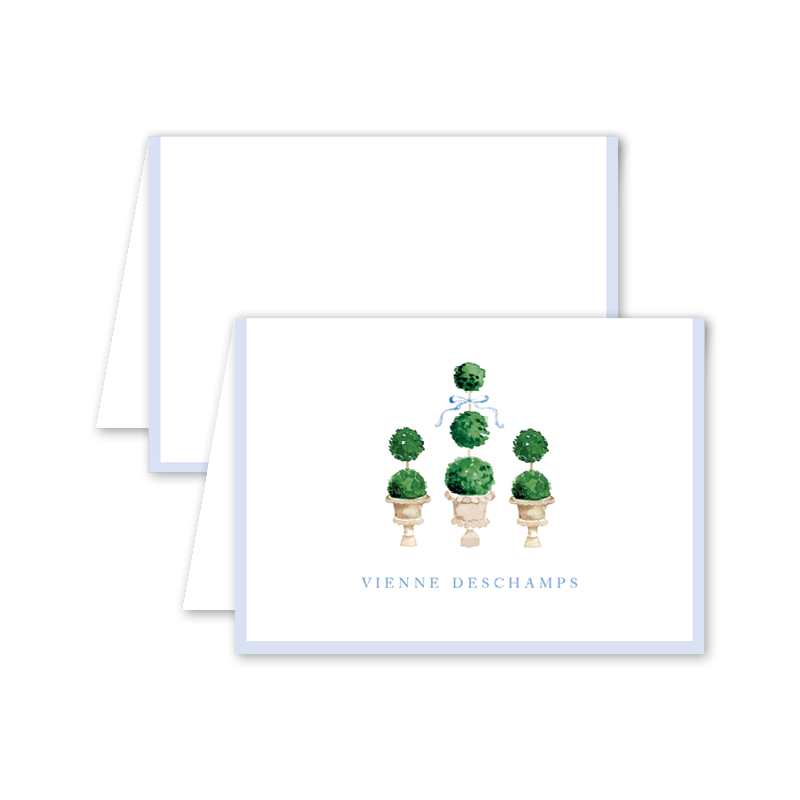 Parisian Picnic Topiaries Folded Notecard