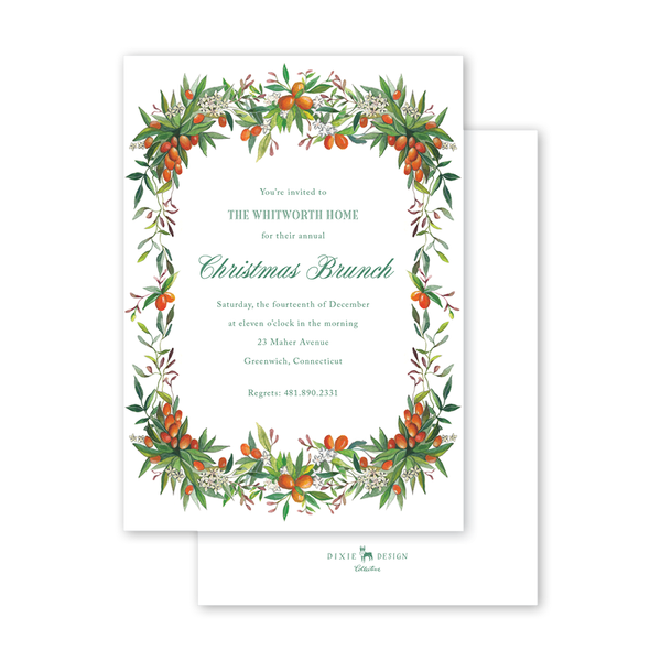 Evergreen Citrus Invitation