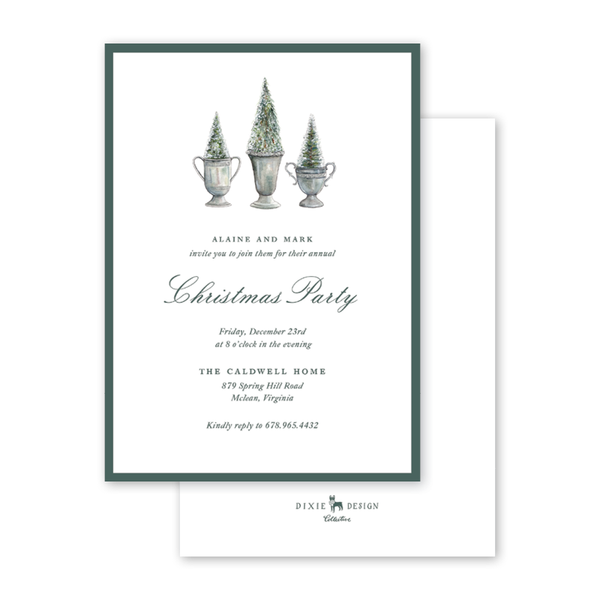 Frosted Trees Invitation