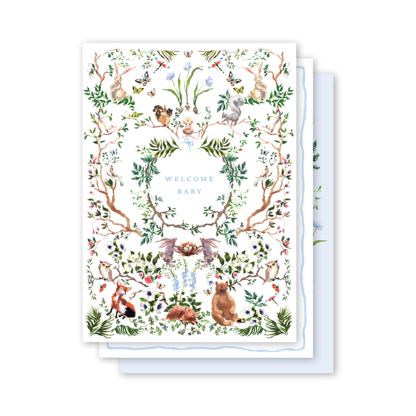 Woodland Blue Milestone Cards