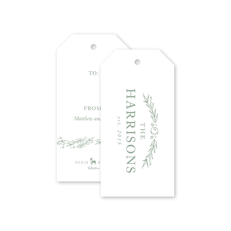 Simple Flourish Gift Tags