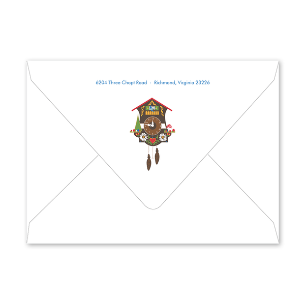 Bavarian Cuckoo Invitation Envelopes