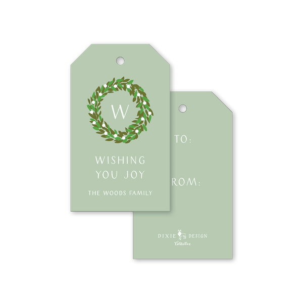Boxwood Green Gift Tags