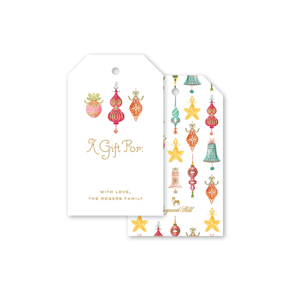 Bells and Baubles Ornaments Gift Tags
