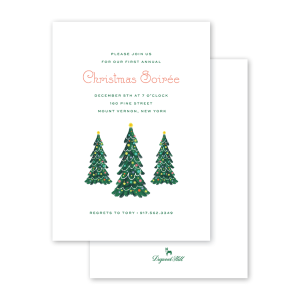 Bells and Baubles Tree Invitation