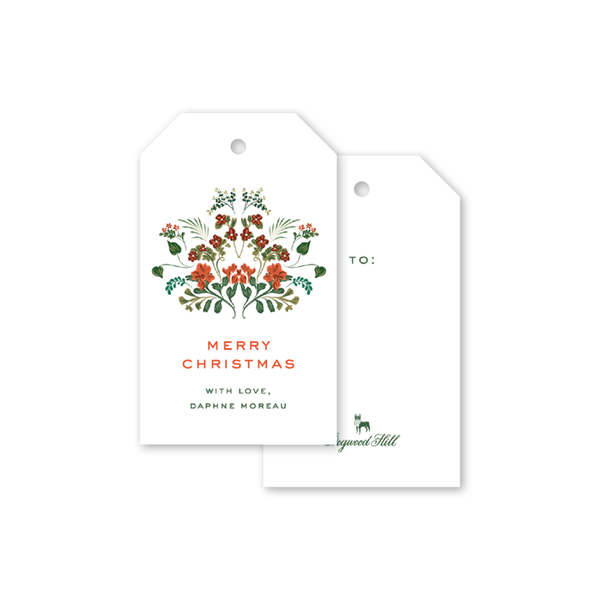 Cottage Blooms Christmas Gift Tags