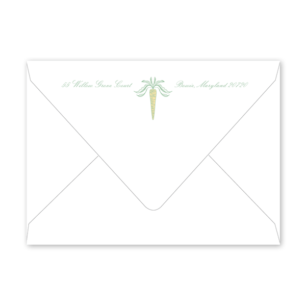 Easter Garden Green Frame Envelopes