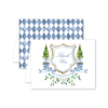 Blue Topiary Crest Thank You