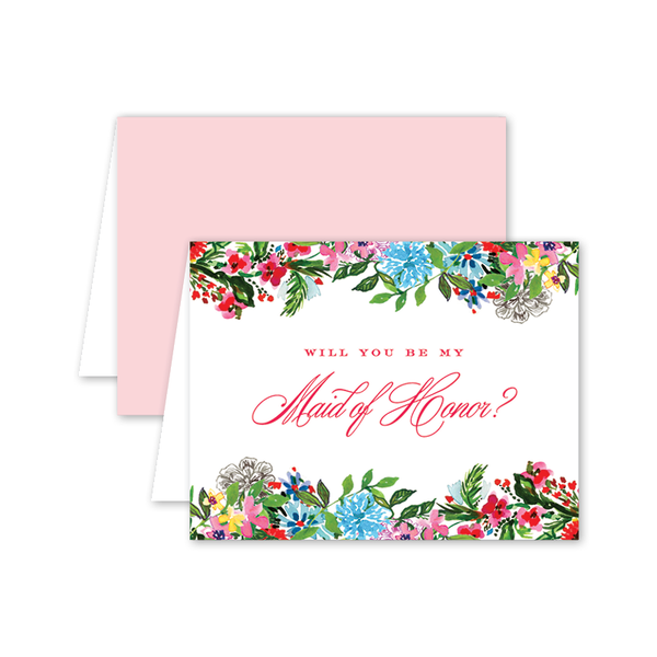 Exotic Crest Maid of Honor Card