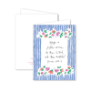 Floral Stripe Card