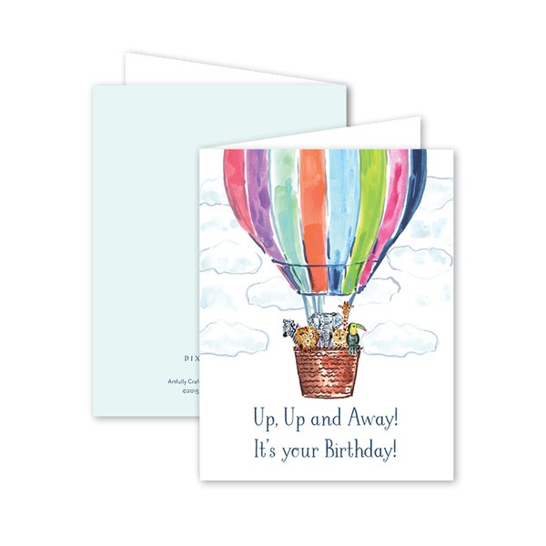 Up Up and Away Birthday Card